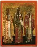 Святители Афанасий и Кирилл Александрийские и Игнатий Богоносец