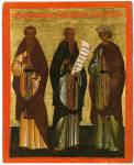 Преподобные Афанасий Афонский, Варлаам и царевич Иоасаф Индийский