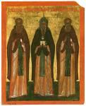 Преподобные Сергий Радонежский, Антоний Римлянин и Савва Вишерский