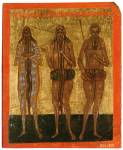 Преподобные Макарий Египетский, Онуфрий Великий и Петр Афонский
