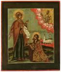 Богоматерь Боголюбская, с припадающим князем Андреем Боголюбским