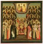Богоматерь Печерская, с киевскими святыми
