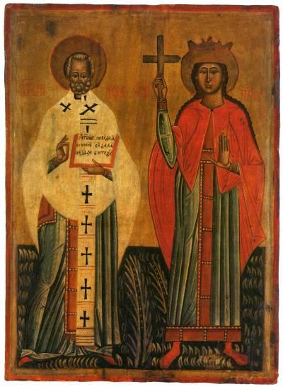 Святитель Николай Чудотворец и св. Параскева Пятница (?)