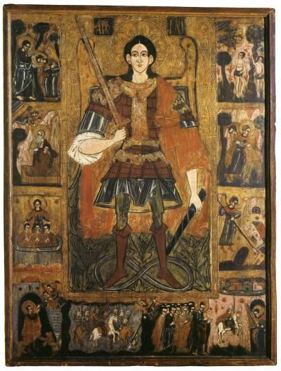 Архангел Михаил, со сценами деяний