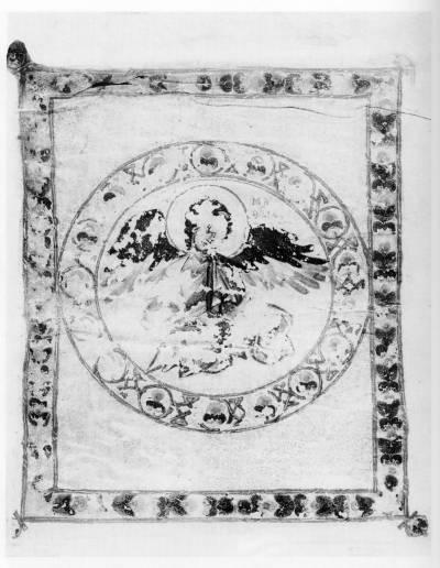 Ангел, символ евангелиста Матфея - Новый Завет с Псалтирью [Син.греч.407 (Влад.25)],
