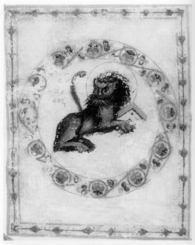 Лев, символ евангелиста Марка - Новый Завет с Псалтирью [Син.греч.407 (Влад.25)],