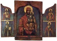 Богоматерь с Младенцем. Святые Георгий, Афанасий, Димитрий и Николай