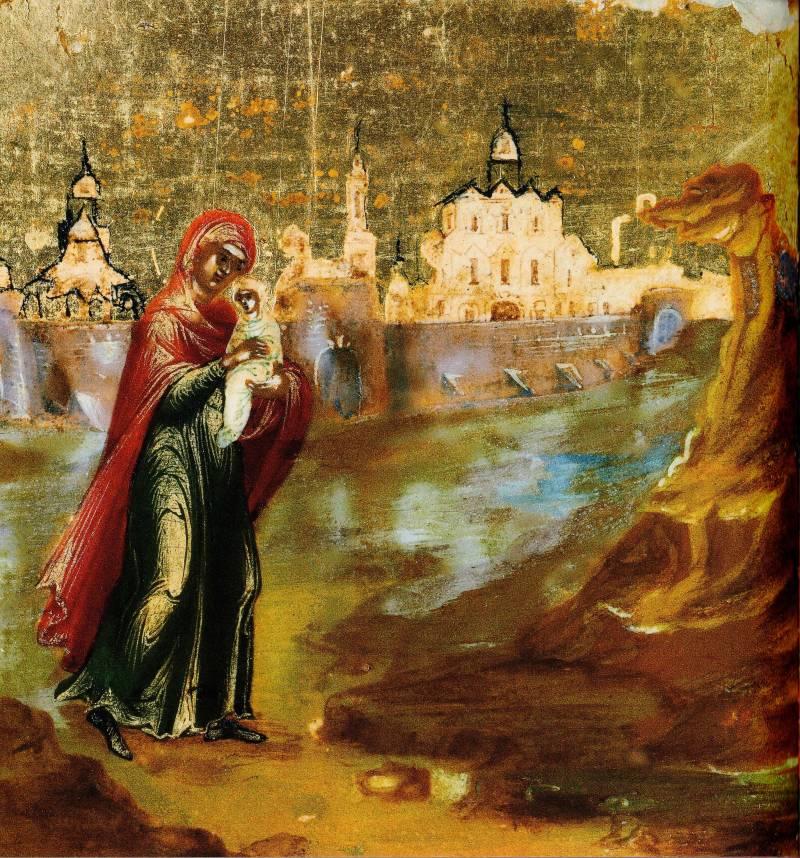 Бегство св. Елисаветы с младенцем Иоанном в пустыню