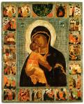 Богоматерь Владимирская, с житием Иоакима, Анны и Богоматери