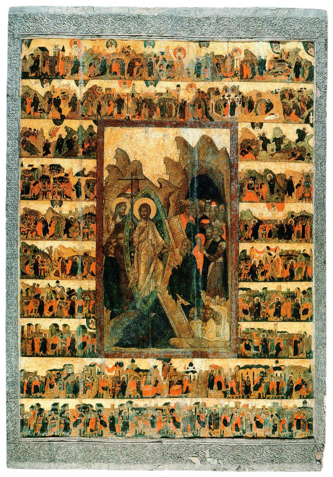 Сошествие во ад, с евангельскими сценами
