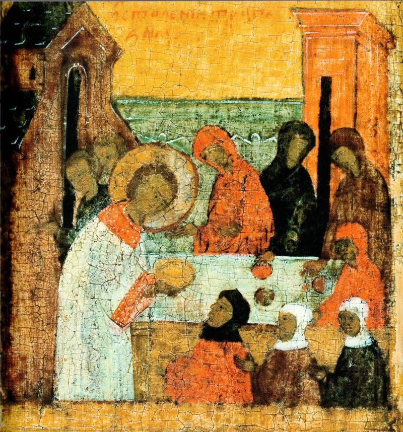 Служение св. Стефана бедным вдовам