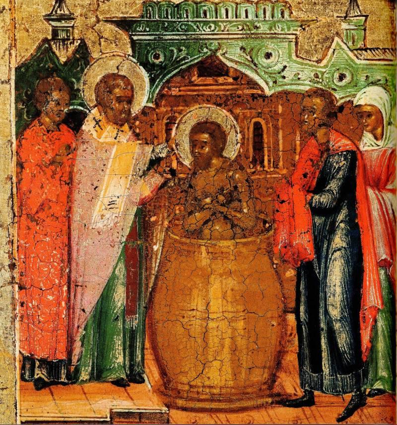 Крещение св. Сильвестром царя Константина и его исцеление от проказы