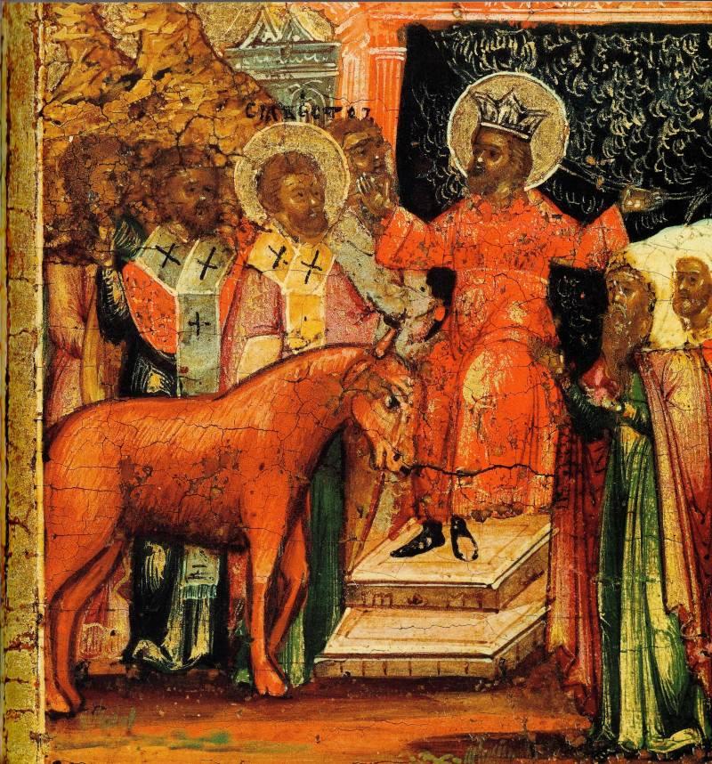Св. Сильвестр воскрешает вола