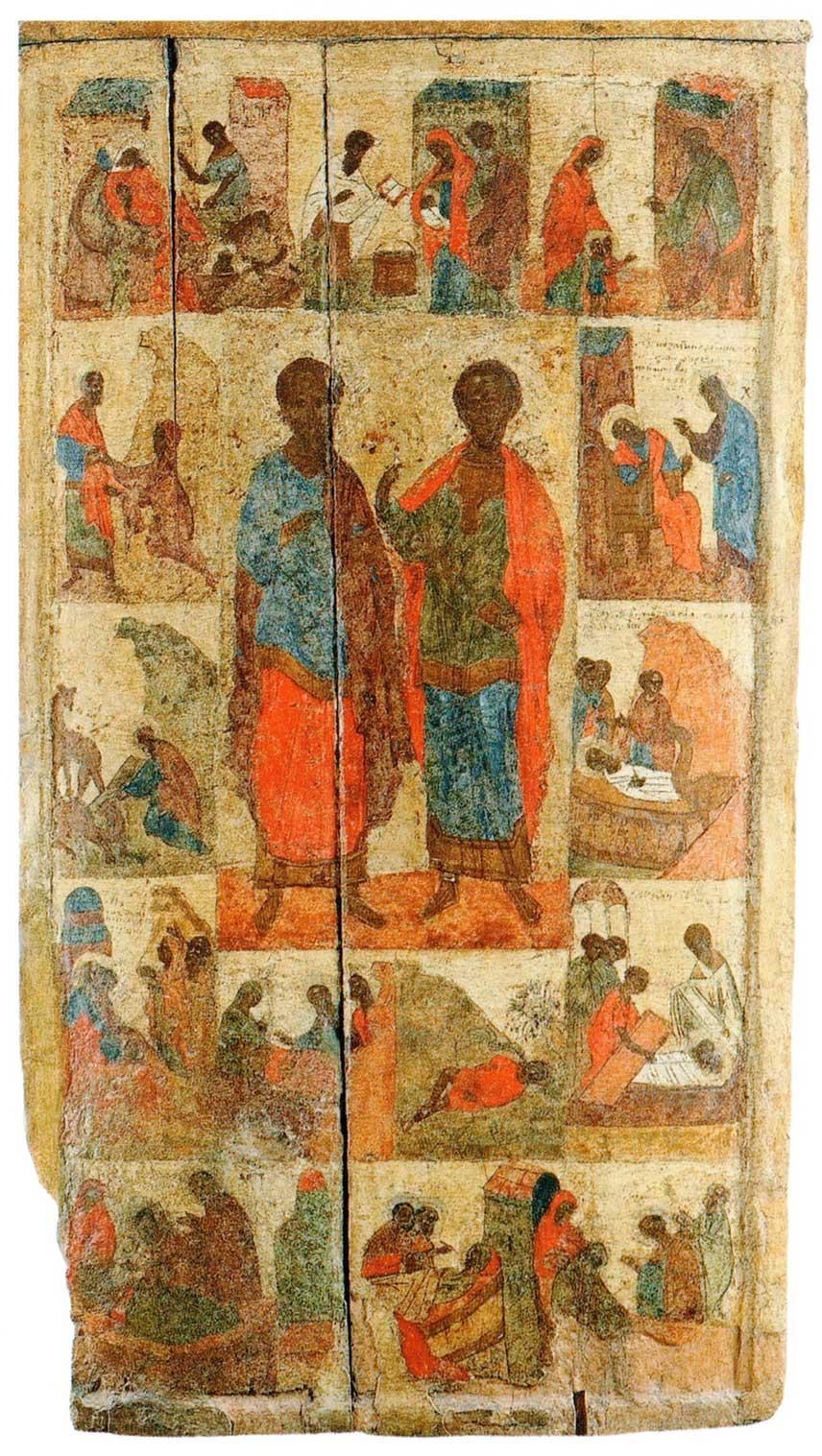 Святые врачи-бессребреники Косма и Дамиан, с житием