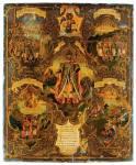 Святой князь Александр Невский, со сценами жития