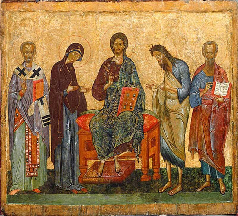 Деисус, со свт. Николаем и неизвестным святым
