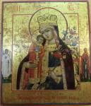 Икона Богоматери «Неувядаемый цвет», со святыми на полях