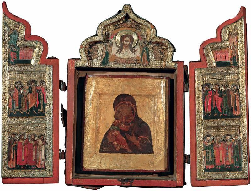 Владимирская икона Богоматери. Спас Нерукотворный. Благовещение. Избранные святые