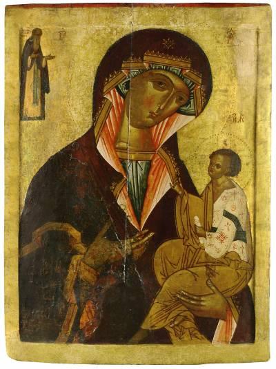Богоматерь Одигитрия, с преподобным Иоанном Лествичником