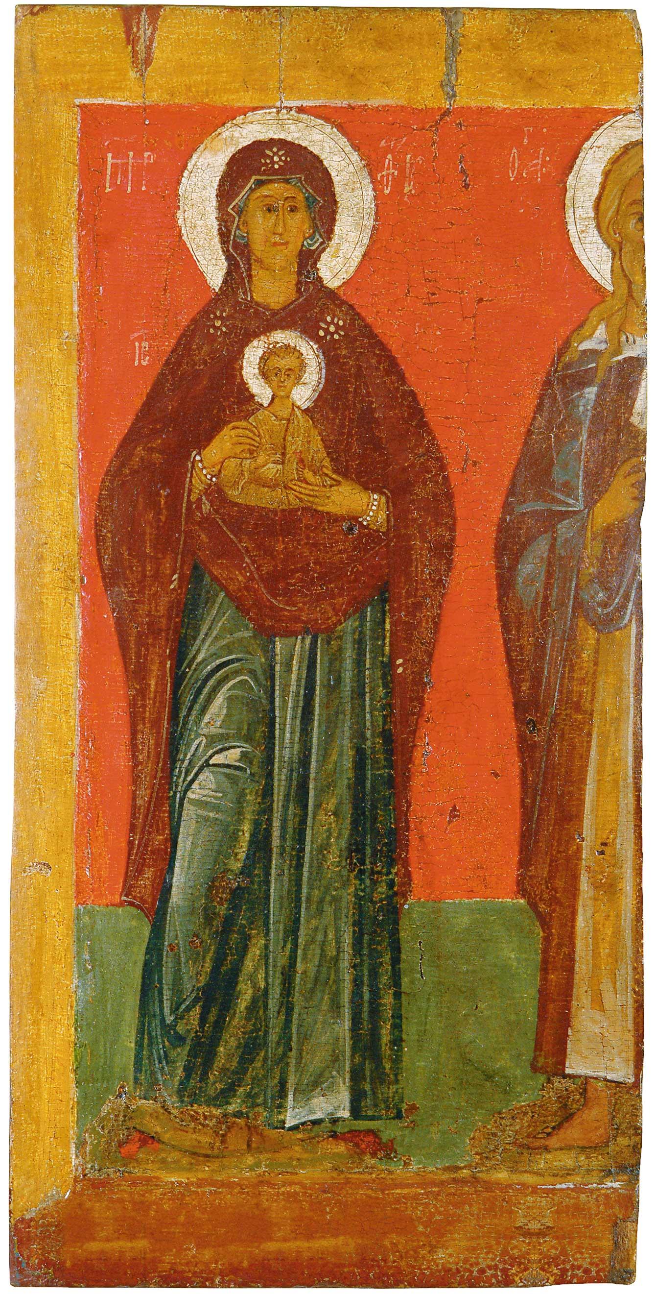 Богоматерь с Младенцем и Илия Пророк