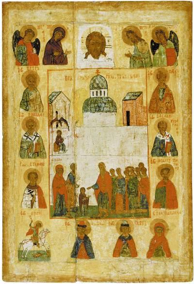 Введение во храм, с деисусным чином и избранными святыми