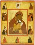 Ярославская икона Богоматери, с Деисусом и избранными святыми
