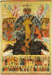 Воскресение — Сошествие во ад, с праздниками и избранными святыми