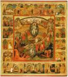 Воскресение — Сошествие во ад, с евангельскими сценами