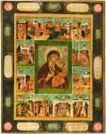 Иверская икона Богоматери, с чудесами