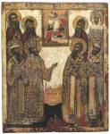 Избранные святые, предстоящие образу «Благовещение»