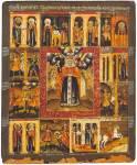 Святая Параскева Пятница, с житием в 12 клеймах