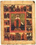 Святая Параскева Пятница, с образом Богоматери «Знамение» и житием в 15 клеймах