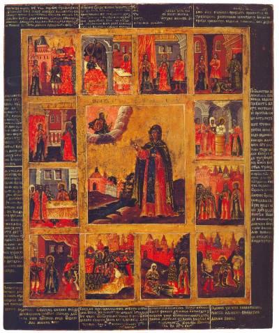Святая Евдокия, с житием в 12 клеймах