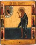 Преподобная Мария Египетская, со святыми на полях