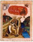 Илия Пророк в пустыне, со сценами жития