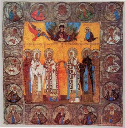 Богоматерь «Неопалимая Купина» и избранные святые
