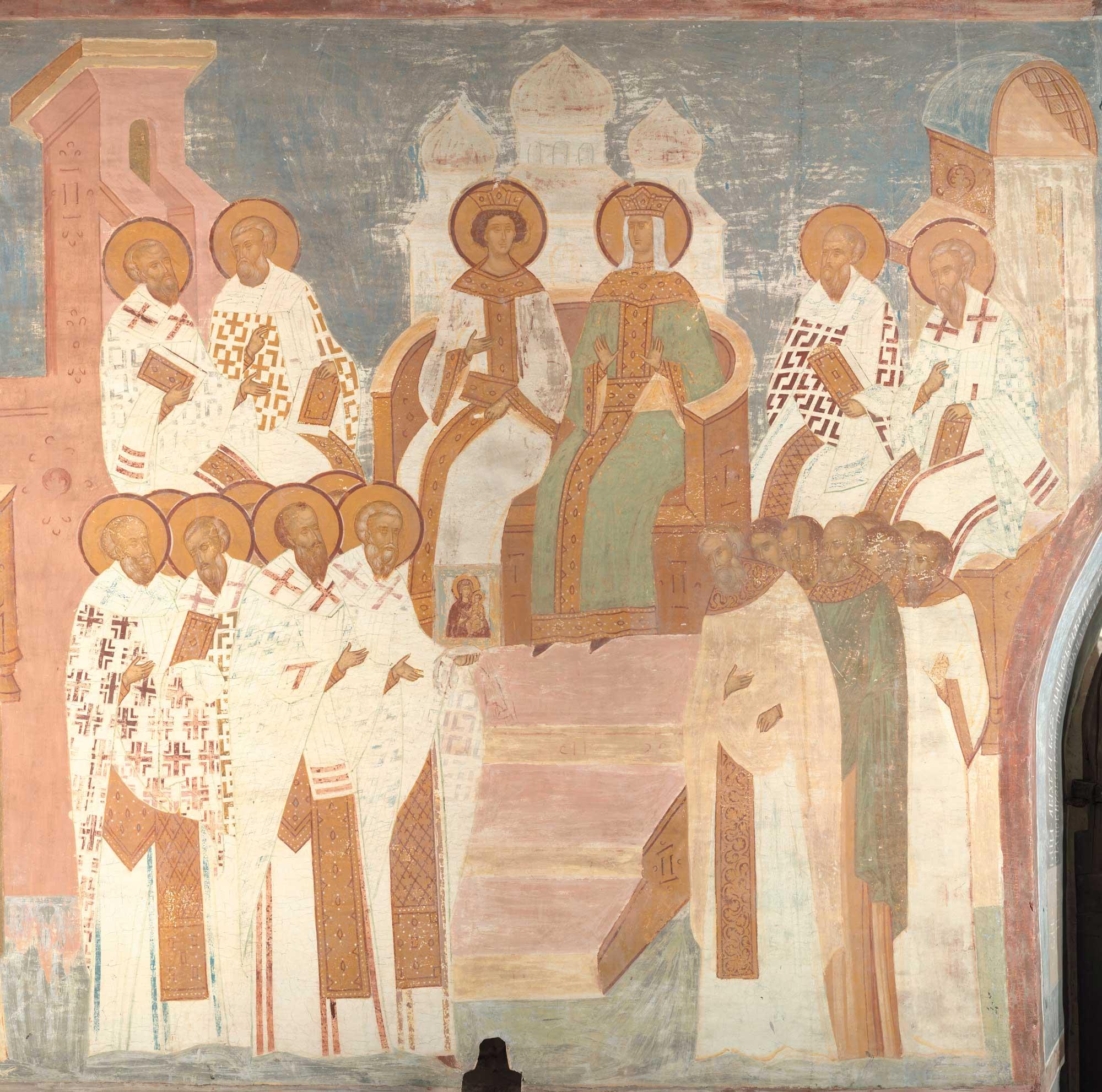 шашлык вселенский собор описание картины огонь