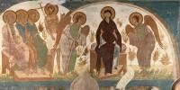 Страшный суд: Лоно Авраамово. Богоматерь в раю