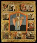 Святитель Николай Чудотворец (Можайский), с житием в 14 клеймах