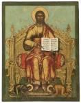 Спас на престоле, с припадающими Иоанном Предтечей и апостолом Петром