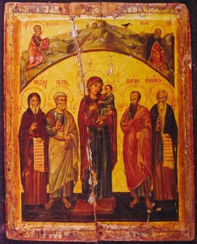 Богоматерь с Младенцем и избранными святыми