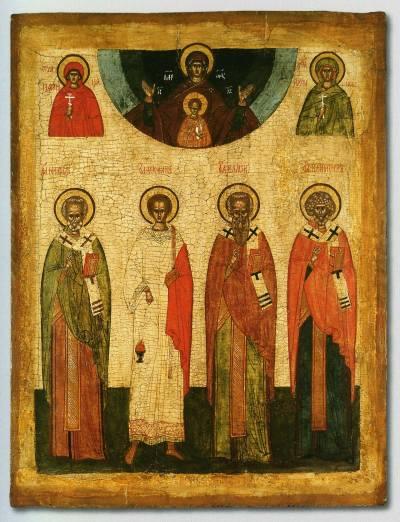 Богоматерь Знамение и избранные святые