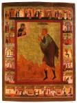 Прокопий Устюжский, предстоящий Богоматери с Младенцем, с житием в24клеймах