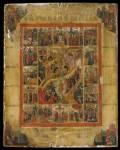 Воскресение Христово — Сошествие во ад, с евангелистами и праздниками