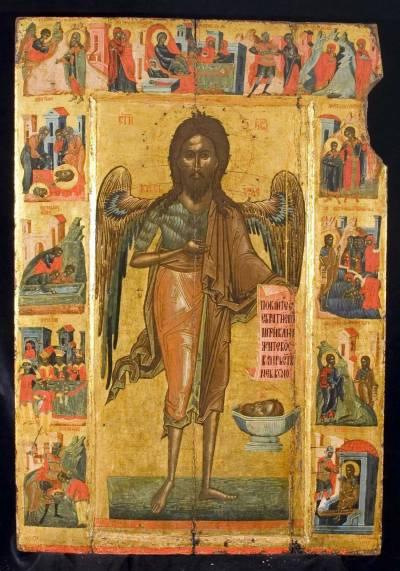 Иоанн Предтеча, с житием в 13 клеймах