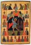 Великомученик Никита, побивающий беса, с Деисусом и избранными святыми