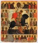 Чудо Георгия о змие, с Деисусом и избранными святыми