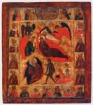 Рождество Христово, с Троицей Ветхозаветной и избранными святыми