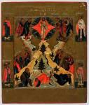Преображение, с избранными святыми на полях