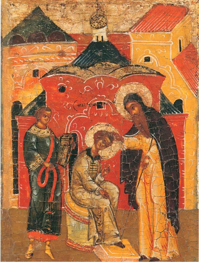 Поставление св. Николая в чтецы (?)